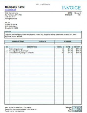 10 free freelance invoice templates [word / excel] translation service invoice template