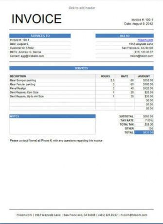 10 Free Freelance Invoice Templates [Word / Excel] Translation ...