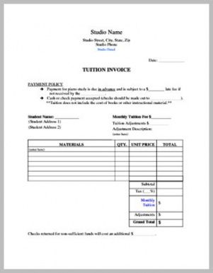 104 best private lessons images on pinterest music ed music music teacher invoice template