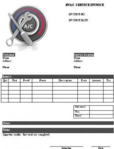 18 free hvac invoice templates - demplates air conditioning service invoice template