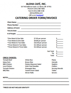 28 catering invoice templates free download - demplates catering bill invoice template