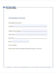 6+ real estate invoice templates - free sample, example format sales commission invoice template