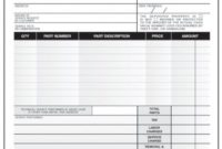 Appliance Repair Invoice Template – Denryoku Appliance Repair Invoice Template