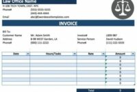 Attorney Invoice For Professional Services Legal Invoice Template Attorney Billable Hours Invoice Template