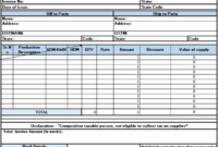 Bill Of Supply Under Composition Scheme | Excel | Pinterest Supply Teacher Invoice Template
