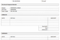 contractor invoice template (word) - dotxes bank transfer invoice template