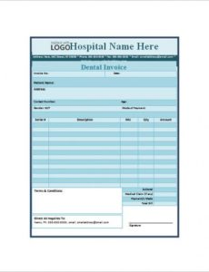 dental receipt template - 14+ free sample, example, format download dental billing invoice template
