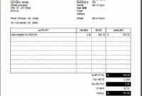 Driver Services Invoice Template | Excel Invoice Templates Delivery Service Invoice Template