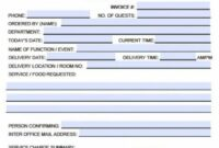 Free Catering Service Invoice Template | Excel | Pdf | Word (.doc) Delivery Service Invoice Template