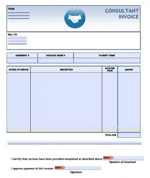 free consulting invoice template | excel | pdf | word (.doc) consultant billing invoice template