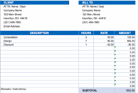 Free Excel Invoice Templates – Smartsheet Transport Service Invoice Template