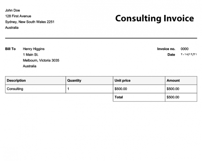 free invoice templates | online invoices sole trader tax invoice template