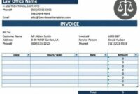 Free Legal (Attorney/lawyer) Invoice Template | Excel | Pdf | Word Law Firm Billing Invoice Template