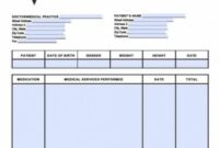 Free Medical Invoice Template | Excel | Pdf | Word (.doc) Medical Bill Invoice Template