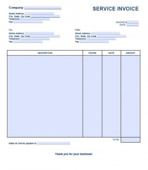 free service invoice template | excel | pdf | word (.doc) service billing invoice template