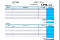 Home Repair Invoice – Ideal.vistalist.co Appliance Repair Invoice Template