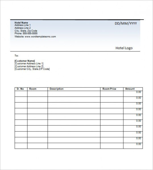 hotel invoice template – 8+ free sample, example, format download hotel billing invoice template