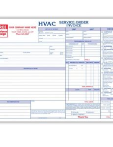 hvac contractor invoice form - custom form printing | designsnprint air conditioning service invoice template