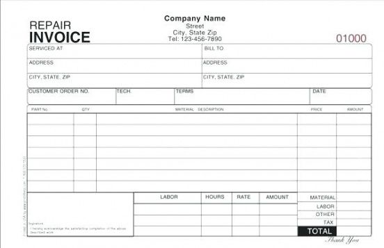 hvac invoice forms service invoice template free invoice template air conditioning repair invoice template