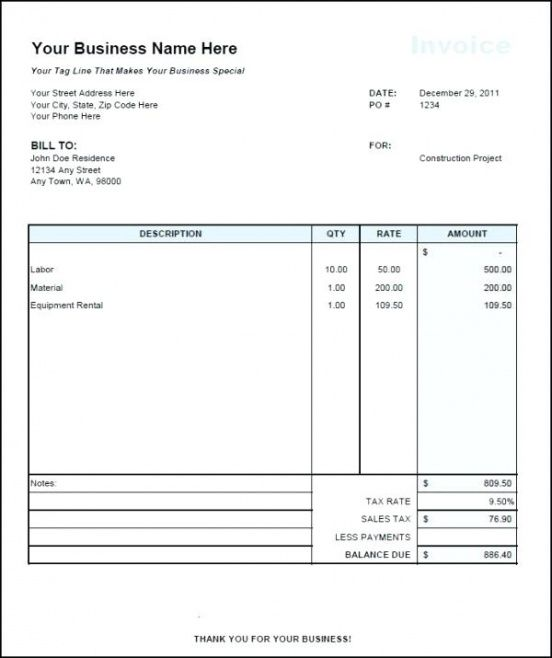 1099 contractor invoice template  Independent Contractor Invoice Template – Im4Newbies.club ...