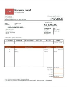 invoice for rent – winagiveaway.club commercial property rent invoice template