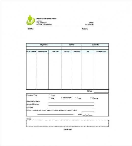 Self Employed Billing Invoice Template