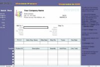 Invoice Template Excel 2007 From 50 Elegant Water Bill Invoice Water Bill Invoice Template