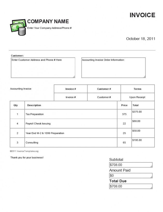 Security Guard Services Invoice Template - It services invoice template