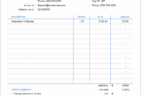 Invoice With Hours And Rate – Free Attorney Billable Hours Invoice Template