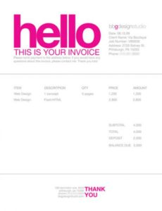 invoicing for freelancers public relations invoice template