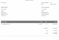 Japanese Invoice Example | Makeleaps Bank Transfer Invoice Template