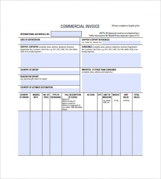 Lease Invoice Templates 14 Free Word Excel Pdf Format Download
