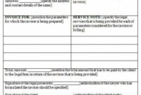 Legal Billing Invoice Template : Invoice Templates Legal Billing Invoice Template