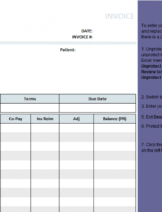 medical invoice template (1) medical bill invoice template