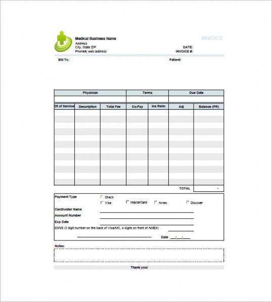 medical invoice template - 12+ free word, excel, pdf format download medical billing invoice template
