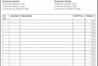Moving Company Invoice Template - Moving company invoice pdf