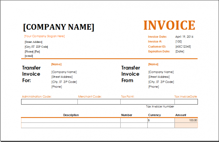 ms excel commission invoice template excel invoice templates brokerage commission invoice template