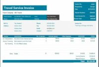 ms excel travel service invoice template | word & excel templates airline ticket invoice template