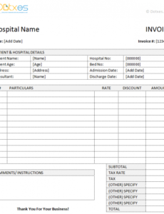 patient invoice template medical invoice template word dotxes hospital billing invoice template