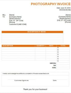photography invoice sample - 7+ documents in pdf, word photography billing invoice template