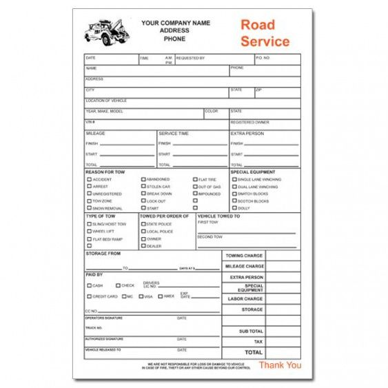 product details | designsnprint towing service invoice template
