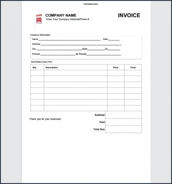 real estate commission invoice template  Real Estate Commission Invoice Template From Mission Invoice Real ...