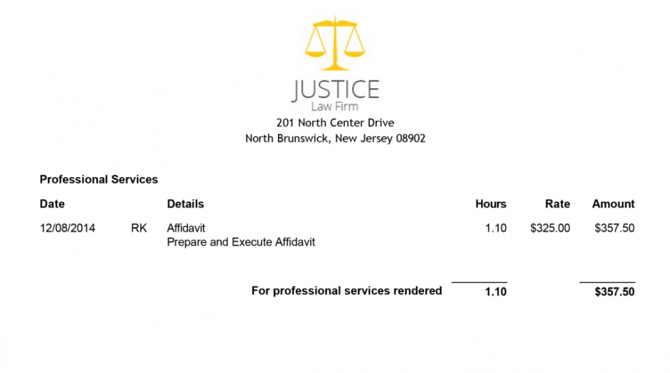 Sample Of Attorney Billing Invoice Attorney Invoice Template Invoice