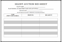 Silent Auction Bid Sheet Templates – Ideal.vistalist.co Silent Auction Invoice Template