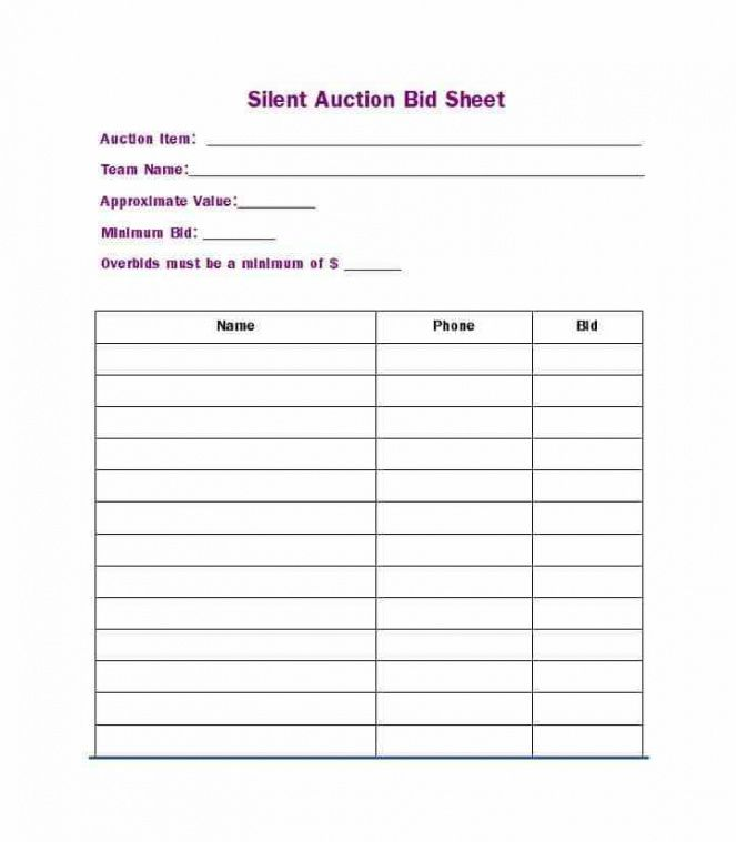 silent auction template pdf - ideal.vistalist.co silent auction invoice template