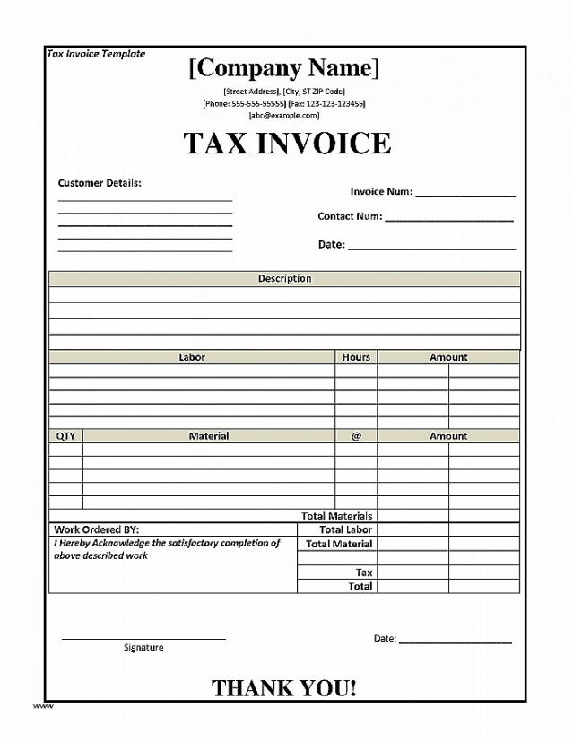Tax Invoice Australia Template Lovely Tax Invoice Template Nz Free