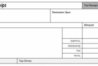 Taxi Invoice Template Cab Receipt Functional Addition Taxi Service Invoice Template