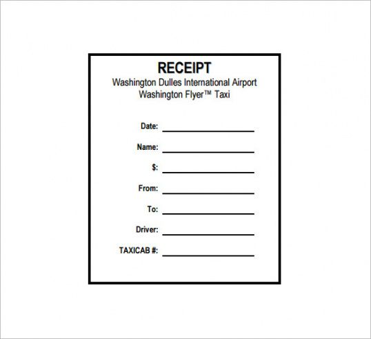 taxi receipt template 20 free word excel pdf format download