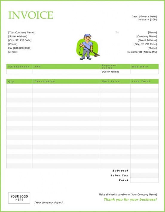 top 21 free cleaning service invoice templates - demplates cleaning company invoice template