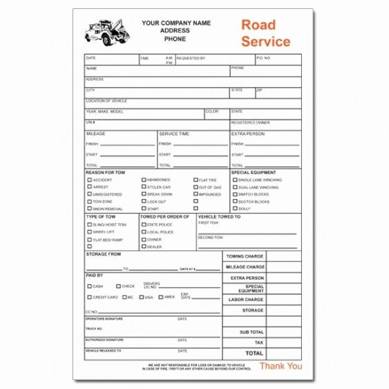 Tow Truck Invoice Form Pictures Tow Truck Invoice Towing Invoice Tow - Tow truck invoice
